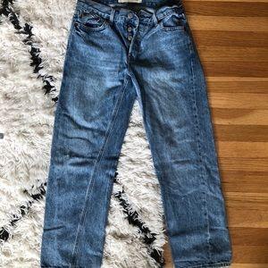 Cropped Gap Light Wash Vintage Straight Jeans (25)